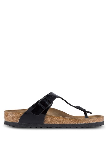 Birkenstock black Gizeh Patent Sandals BI090SH63JQQMY_1