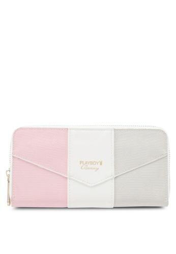 PLAYBOY BUNNY grey and pink Playboy Bunny Zipper Purse 99D94AC5AD607DGS_1