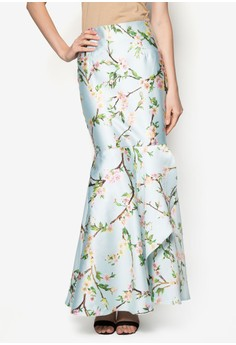 Flower Mermaid Overlap Skirt