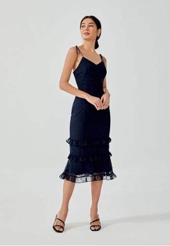 Love, Bonito blue Jaenie Textured Ruffle Tiered Dress 83AC6AAD486148GS_1
