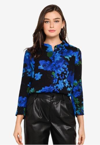 Desigual blue Floral Camouflage Shirt 948B7AA9B55BABGS_1