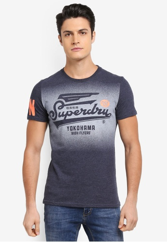 Superdry navy HIGH FLYERS TEE 9832EAA714ADD7GS_1