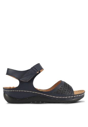 Alfio Raldo blue Strappy Sandals 8F604SHD676562GS_1