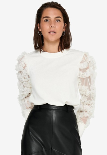 JACQUELINE DE YONG white Fairview Sweatshirt A2DEAAAAEA4B68GS_1