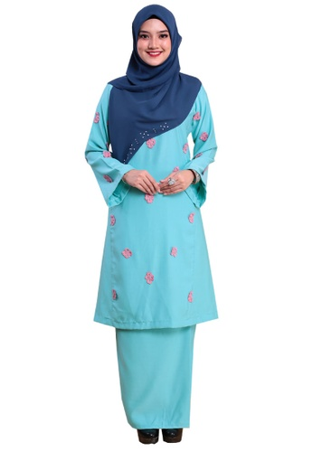 Kurung Happy 03 from Hijrah Couture in Blue