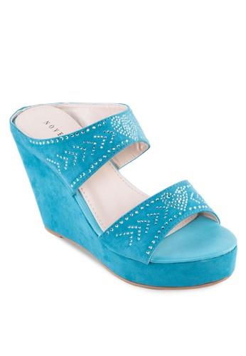時尚閃飾楔形涼鞋, 女鞋, 楔zalora taiwan 時尚購物網形涼鞋