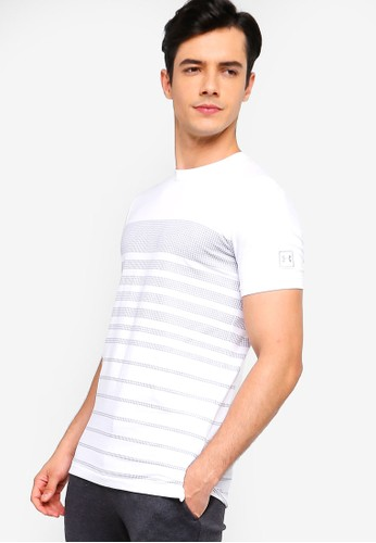 Under Armour white Sportstyle Stripe Tee CCCB8AA76A2BAAGS_1