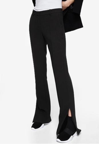 Mango black Side Slit Flowy Trousers MA193AA0RGTGMY_1