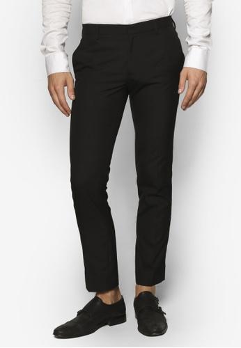 Topman black Black Skinny Fit Smart Trousers TO413AA59IMEMY_1