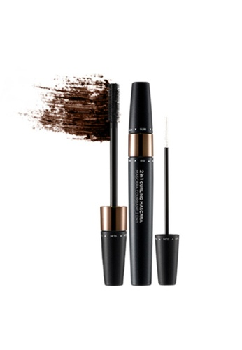 THE FACE SHOP brown 2-In-1 Curling Mascara 02 Brown BE272BE3A4AA14GS_1