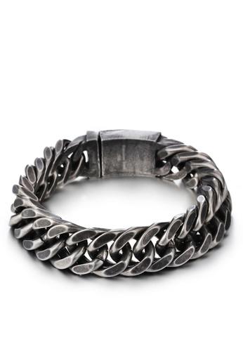 HAPPY FRIDAYS Dark Stainless Steel Bracelet KL71831 72751ACF977788GS_1