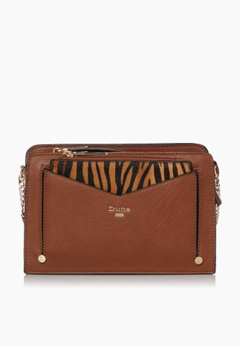 Dune London brown Dune London Dakkota  Women Small Removable Pouch Cross Body Bag 67FD8AC767A75EGS_1