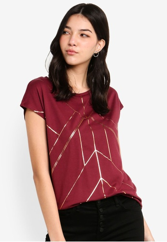 ESPRIT red Short Sleeves T-Shirt F7607AAFDAFE81GS_1