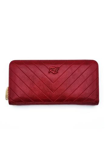 RUCINI red Rucini Ladies Long Zip Wallet 21EACACE407778GS_1