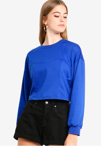 Something Borrowed blue Sweater Top 23A04AA25BE4A0GS_1