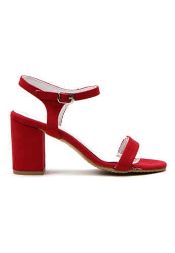 Crystal Korea Fashion red Korean Fashion Summer Candy Color Thick Sandals 35707SHBC257A5GS_1