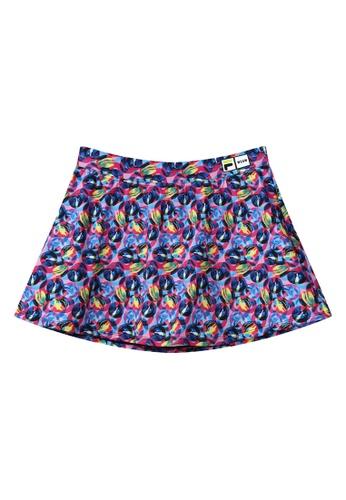 FILA multi FILA x MSGM All Over Colored Graze Print Skirt 205C2AAC760E3FGS_1