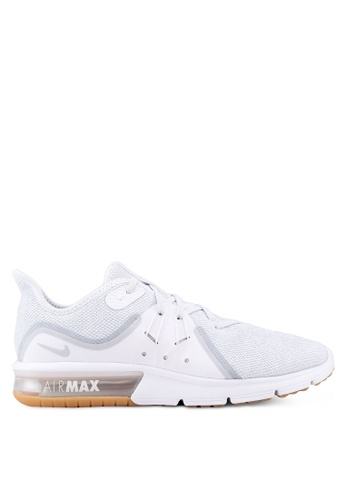 Nike white Nike Air Max Sequent 3 Running Shoes 456C9SH2C7C811GS_1