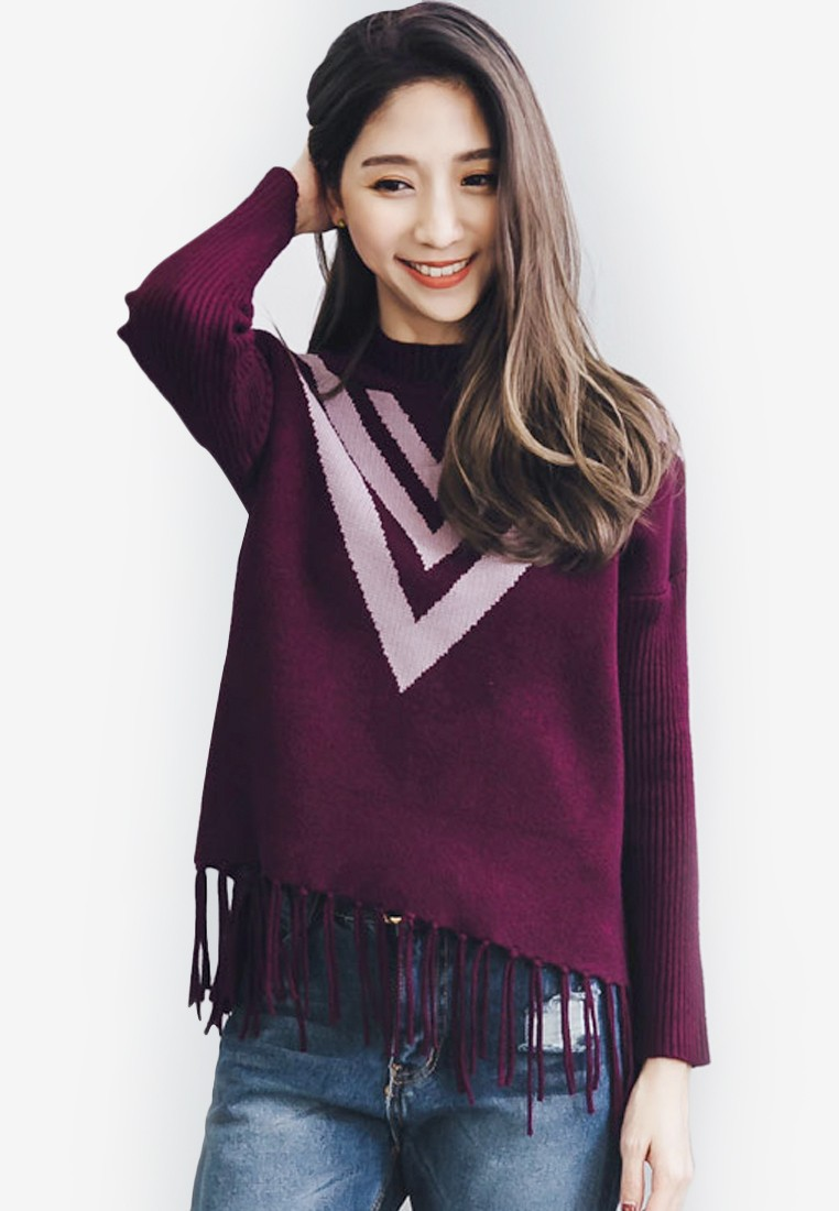 Fringed Coziness Knit Pullover