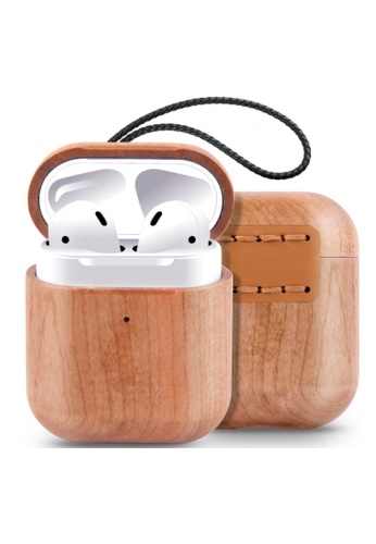 Kings Collection brown Cherry Wood AirPods Case (KCW2116) 6F96FAC03E2689GS_1