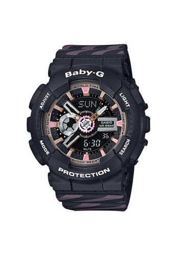 Baby-G black and pink CASIO BABY-G BA-110CH-1A F9B60AC6CFDD93GS_1
