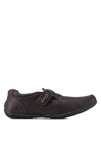 Louis Cuppers brown Strap Moccasins 92BCFSH1C7528CGS_1