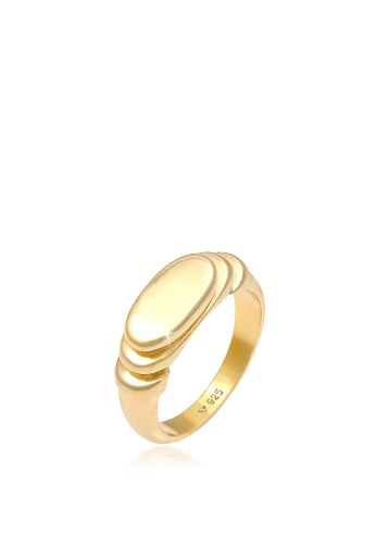 ELLI GERMANY gold Signet Polished Oval Gold Plated Ring 718AEAC1C02239GS_1