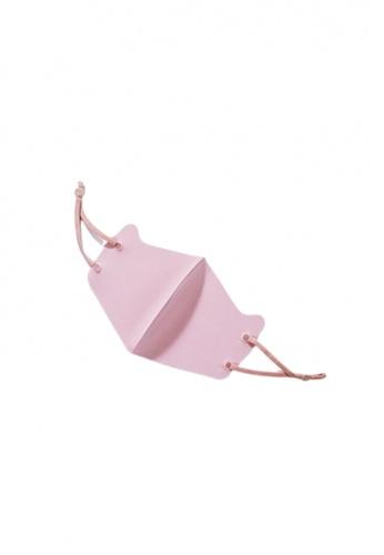 Her Jewellery pink Ice Silk Cotton Kids Mask (Pink) 57292ES30946B1GS_1