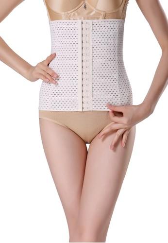 MOOIMOM white MOOIMOM 25cm Corset Postpartum Elastic Breathable Korset Pelangsing Pasca Melahirkan White MO368US52CJVID_1