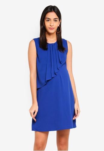 Spring Maternity 藍色 孕婦裝 褶飾洋裝 6AFBCAA9617F5CGS_1