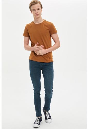 DeFacto 綠色 Pedro Slim Trousers B1D18AA6524DD3GS_1