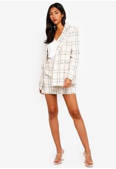 346e5773e1cf1 Miss Selfridge Ivory Boucle Checkered Blazer S  139.00. Sizes 6 8 10 12 14