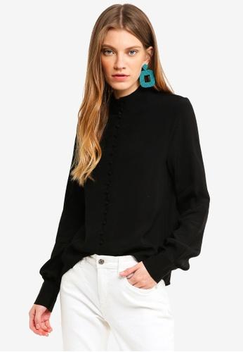Vero Moda black Cecilie Long Sleeve Top BD6E3AA4C52C87GS_1