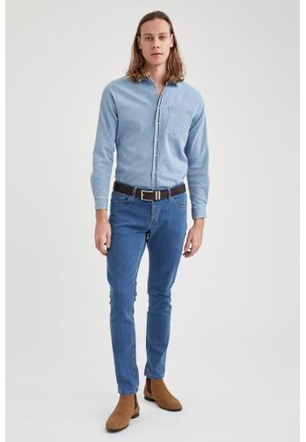 DeFacto blue Slim Jeans 4311DAAF78CF9EGS_1