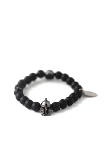 Gnome and Bow black Helmskull Bracelet 666E9ACB0DED06GS_1