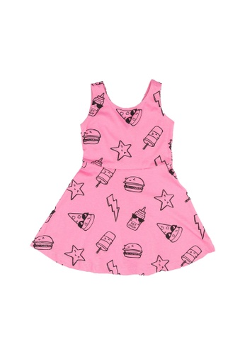 FOX Kids & Baby pink All Over Printed Jersey Dress 3D48BKA66399B1GS_1