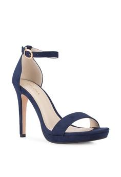 22a6dd1cbd5e 28% OFF ZALORA Ankle Strap Sandal Heels RM 121.70 NOW RM 87.65 Sizes 35