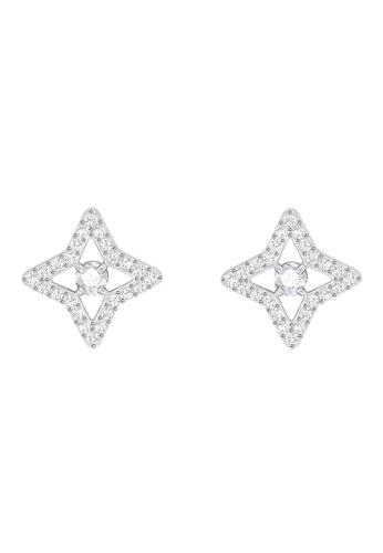 Swarovski silver Sparkling Dance Pierced Star Earrings F9FD3ACBCF88F3GS_1