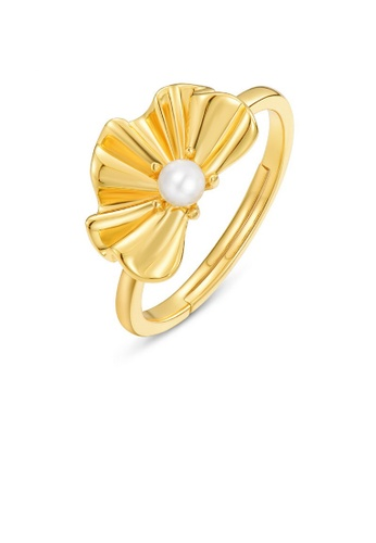 SUNSET gold Premium 925 Sliver Pearl Ring C268CAC0D16981GS_1
