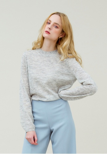 KLAPS grey Round Neck Sweater 084B0AA0B29F5FGS_1