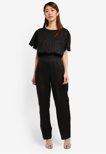Selected Femme black SFJOLLY SS JUMPSUIT KA SE157AA0T0DKMY_1