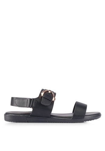 Bata black Bata Casual Sandals 90602SH25CFB87GS_1