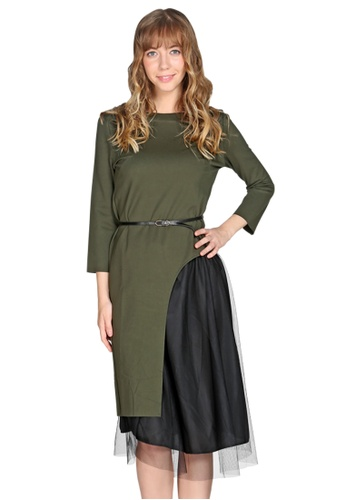 London Rag green Green Side Slit Maxi Top and Skirt 199C5AA91E5C99GS_1