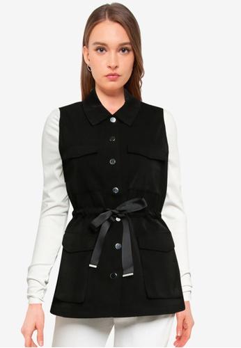 Vero Moda black Paula Sleeveless Waistcoat 2260CAA41BCA1DGS_1