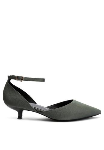 Twenty Eight Shoes 綠色 尖頭中踭鞋395-10 75D74SHBF51631GS_1