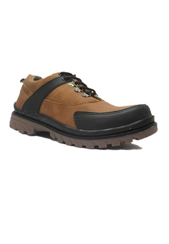 Cut Engineer brown Cut Engineer Jellybean Safety Low Boots Leather Brown CU226SH62JCJID_1