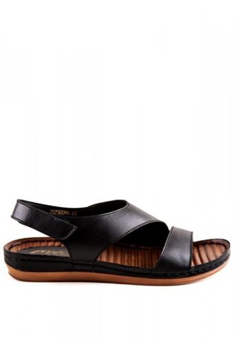 Otto black Velcro Strap Sandals OT407SH0JD92PH_1