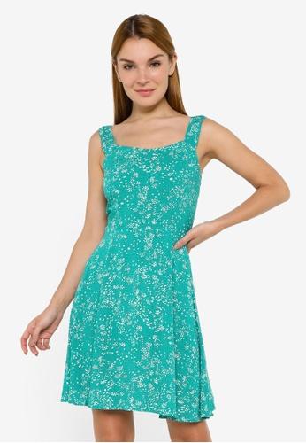 JACQUELINE DE YONG green Staar Life Sleeveless Strap Dress A0811AAC1BB68CGS_1