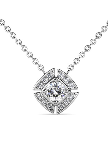 Her Jewellery silver Windmill Pendant (White Gold) - Made with premium grade crystals from Austria 1FA81ACD8E7366GS_1