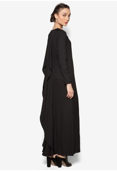 Back Drape Long Dress